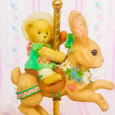 Enesco Cherished Teddies 'Jenelle 'Easter Bunny Carousel Novelty